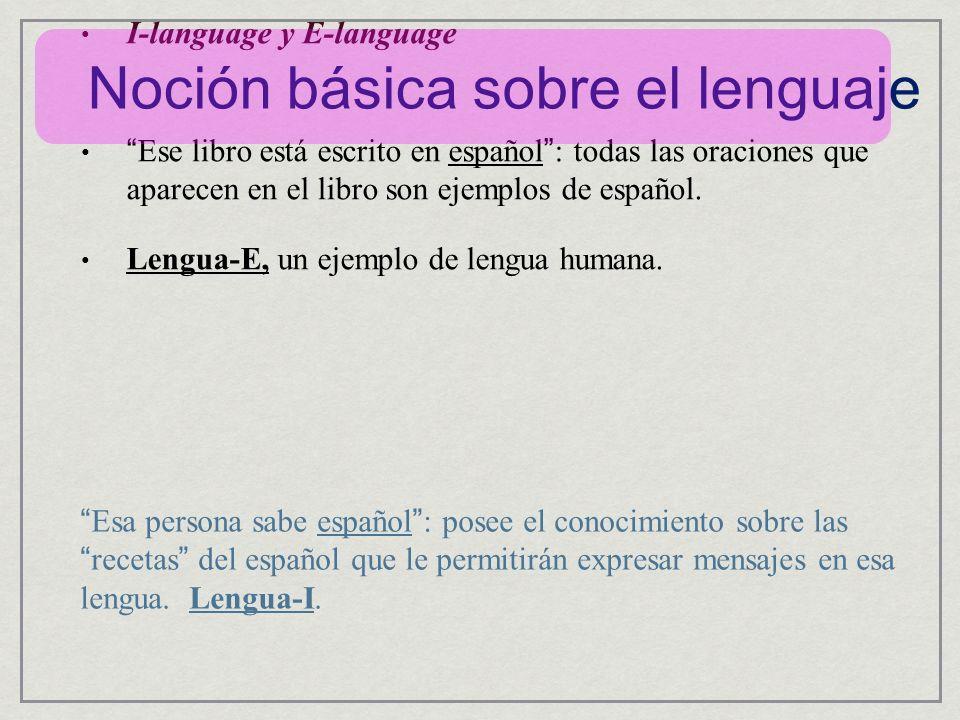 Noción básica sobre el lenguaje