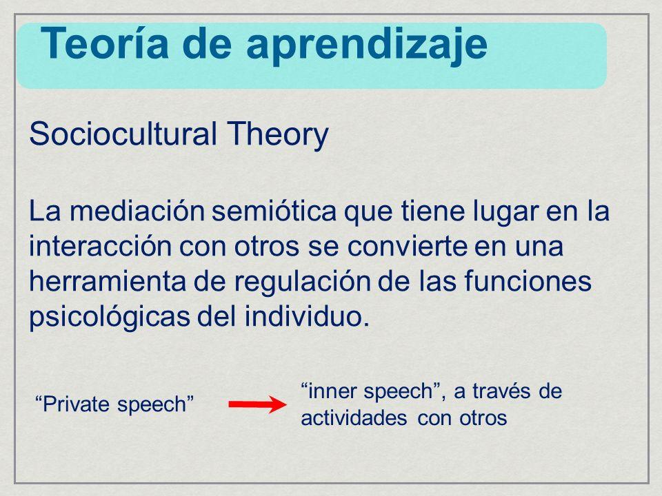 Teoría de aprendizaje Sociocultural Theory