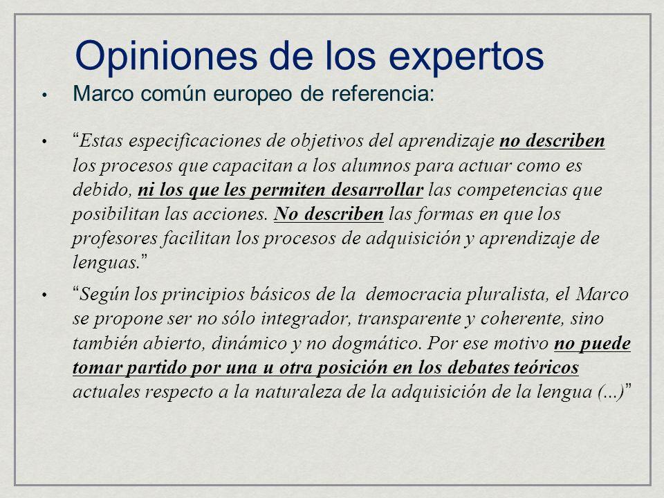 Opiniones de los expertos