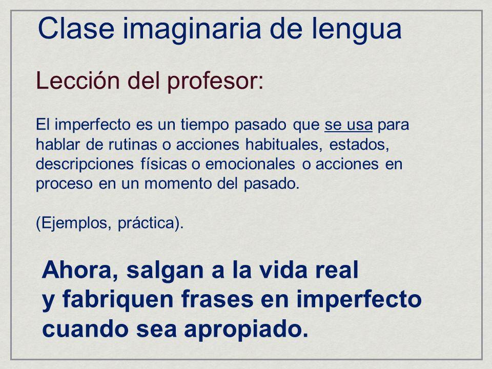 Clase imaginaria de lengua