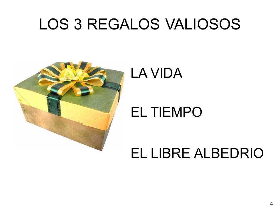 LOS 3 REGALOS VALIOSOS LA VIDA EL TIEMPO EL LIBRE ALBEDRIO