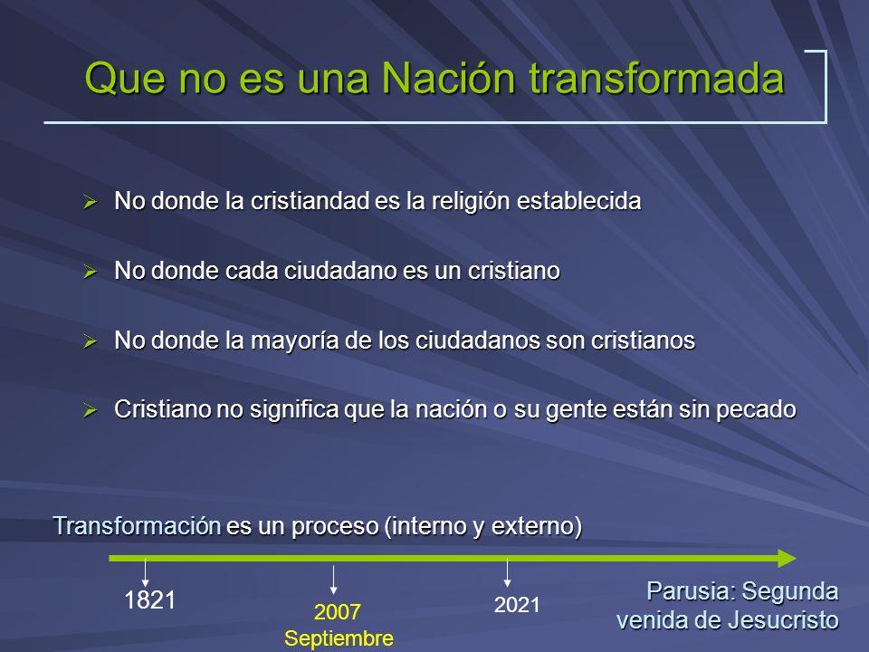Que no es una Nación transformada