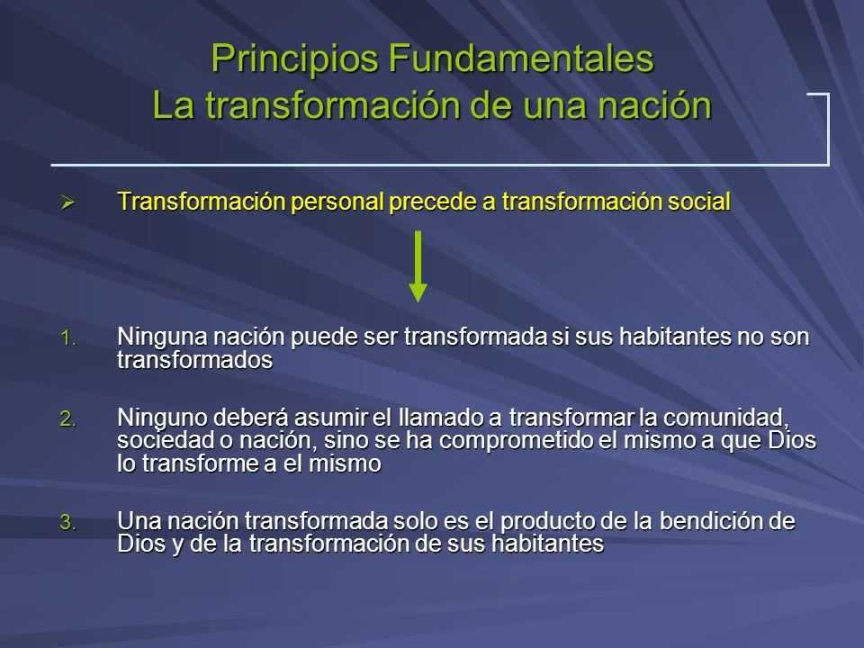 Principios Fundamentales La transformación de una nación