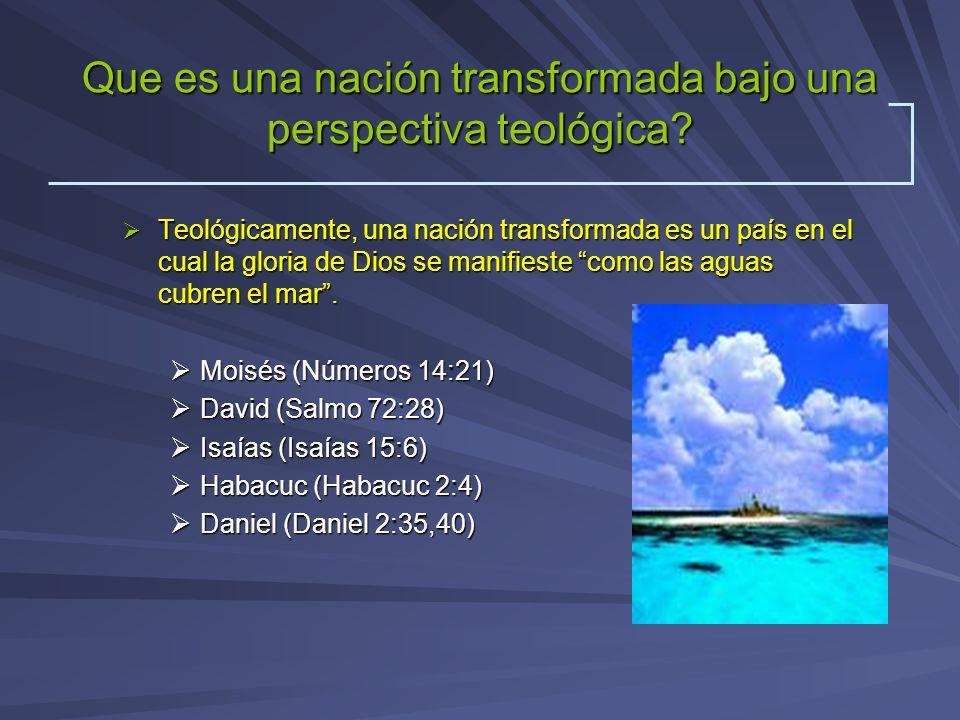 Que es una nación transformada bajo una perspectiva teológica
