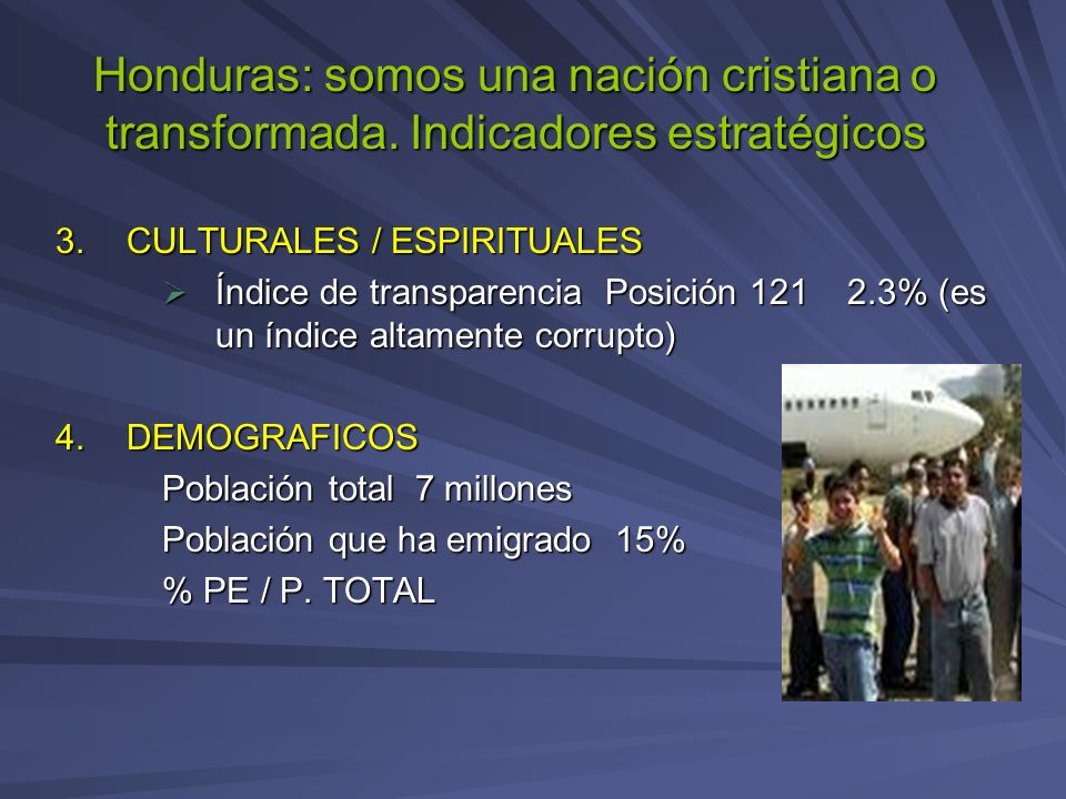 Honduras: somos una nación cristiana o transformada