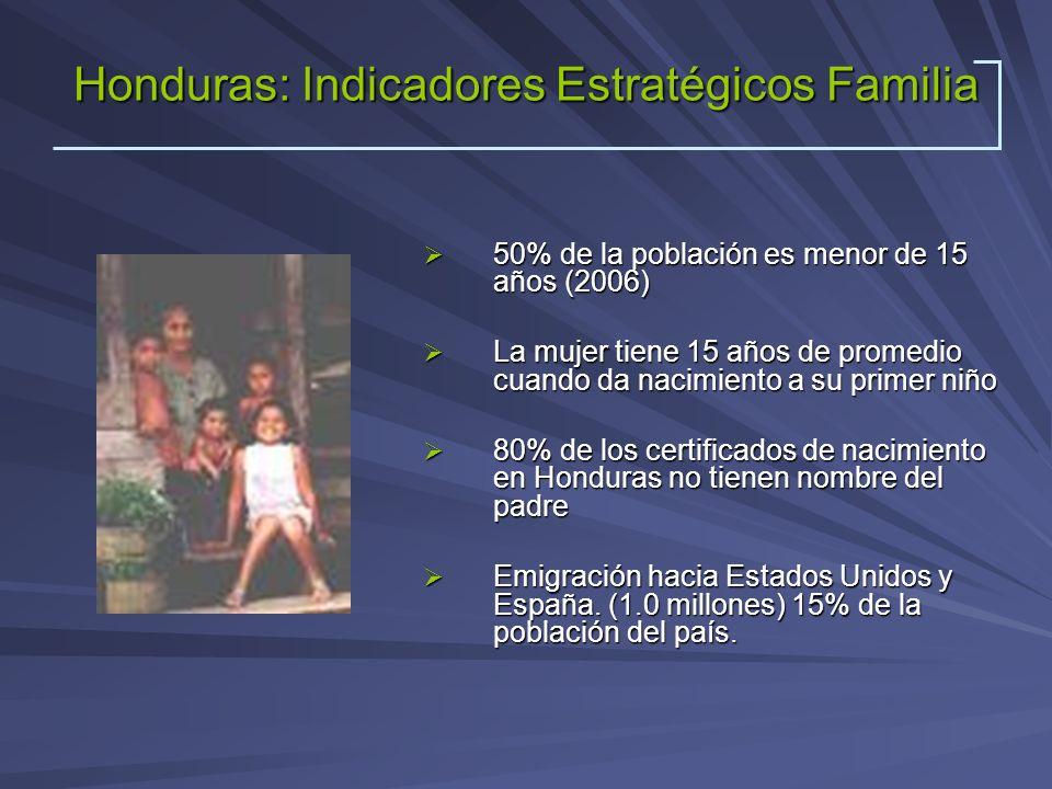 Honduras: Indicadores Estratégicos Familia