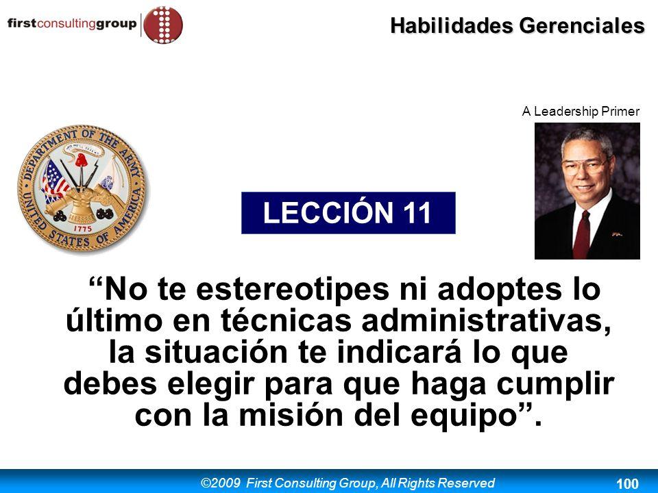 A Leadership Primer LECCIÓN 11.