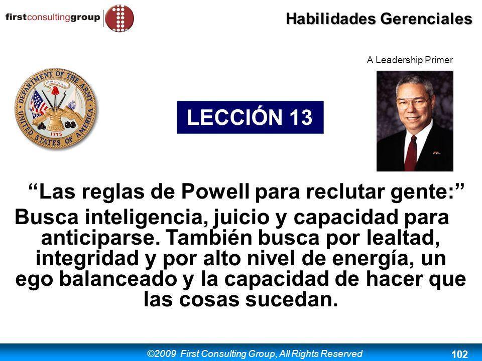 Las reglas de Powell para reclutar gente: