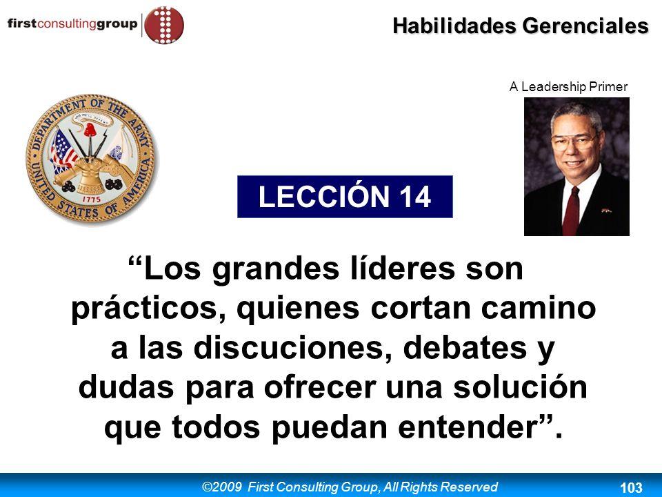 A Leadership Primer LECCIÓN 14.
