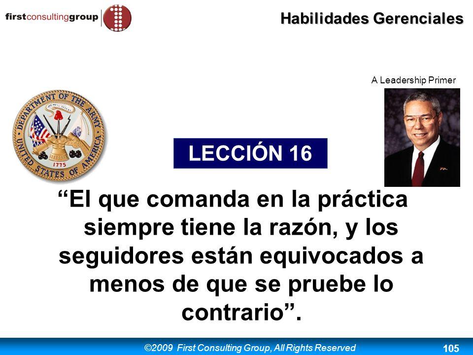 A Leadership Primer LECCIÓN 16.