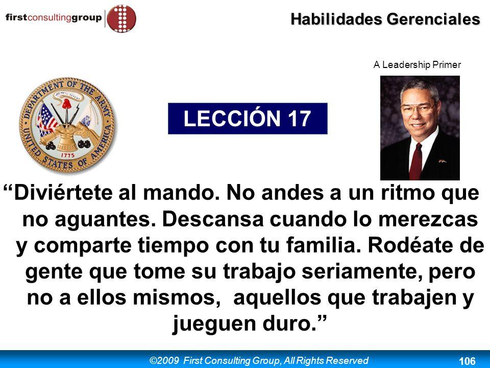 A Leadership Primer LECCIÓN 17.