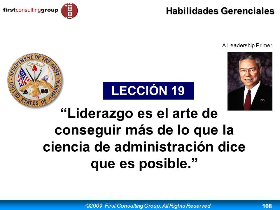 A Leadership Primer LECCIÓN 19.