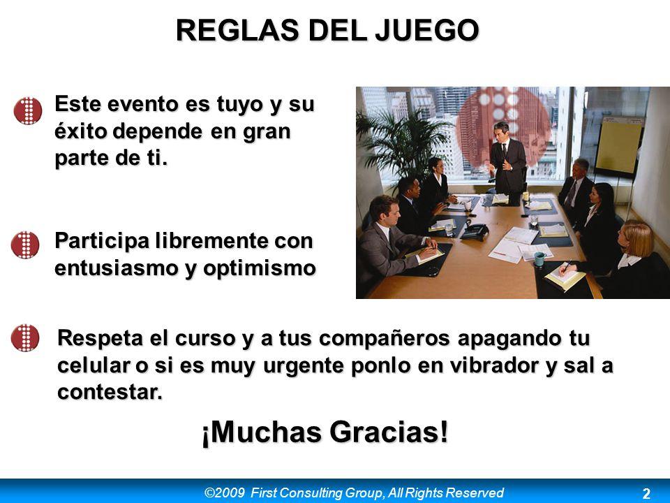 REGLAS DEL JUEGO ¡Muchas Gracias!