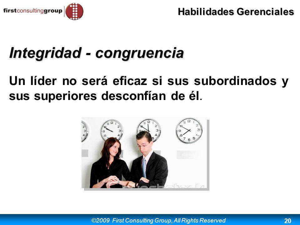 Integridad - congruencia