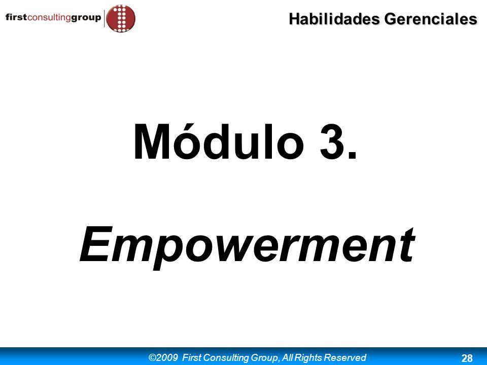 Módulo 3. Empowerment