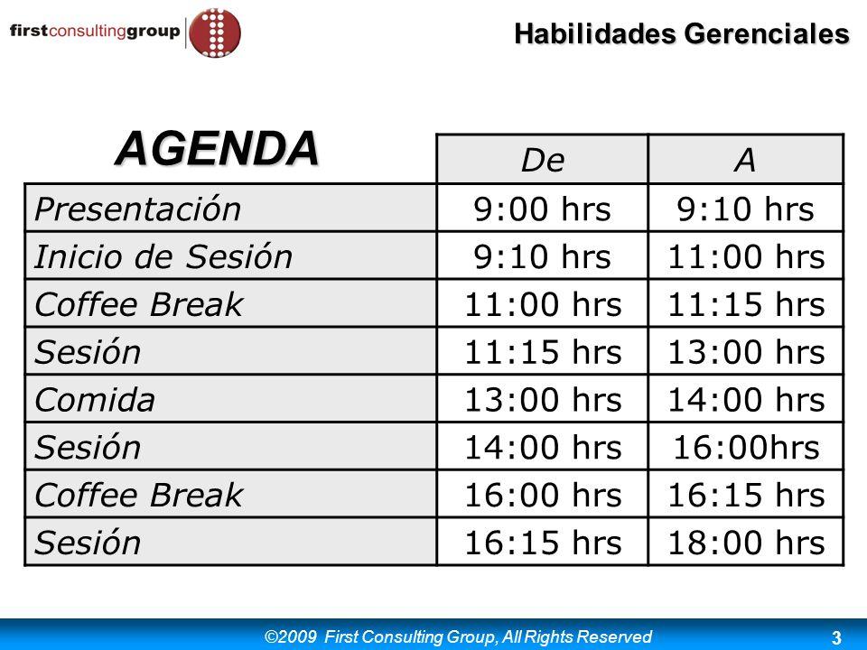 AGENDA De A Presentación 9:00 hrs 9:10 hrs Inicio de Sesión 11:00 hrs