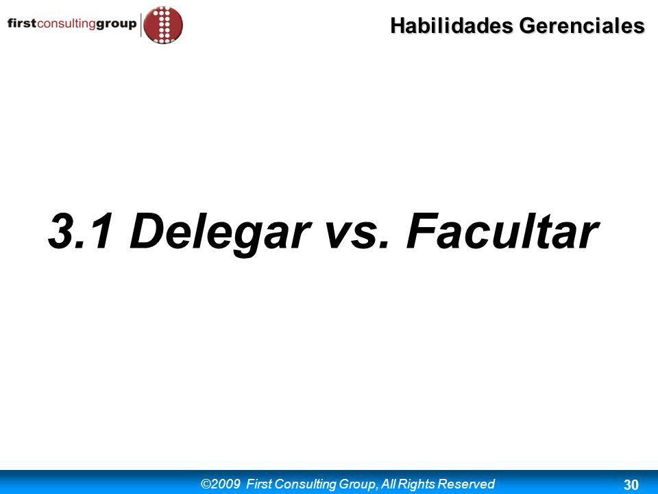 3.1 Delegar vs. Facultar
