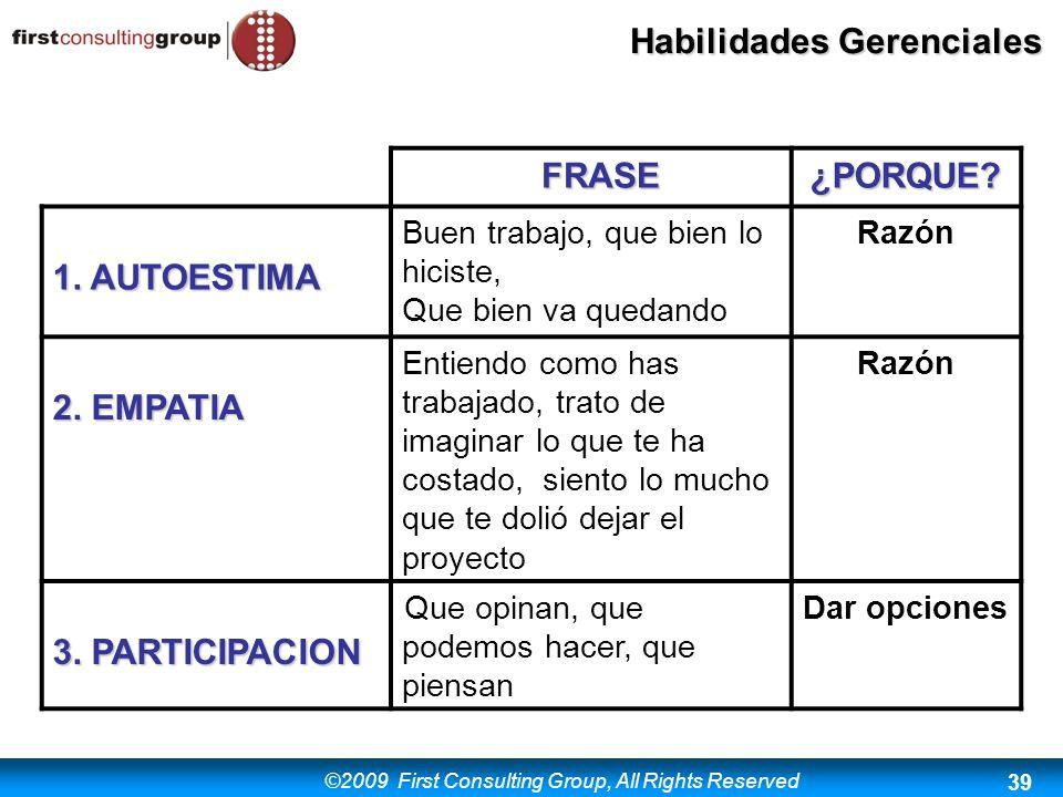 FRASE ¿PORQUE 1. AUTOESTIMA 2. EMPATIA 3. PARTICIPACION