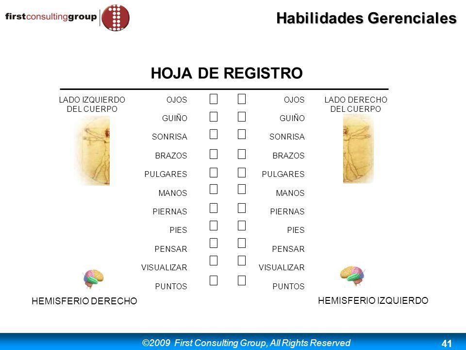 HOJA DE REGISTRO HEMISFERIO DERECHO HEMISFERIO IZQUIERDO LADO DERECHO