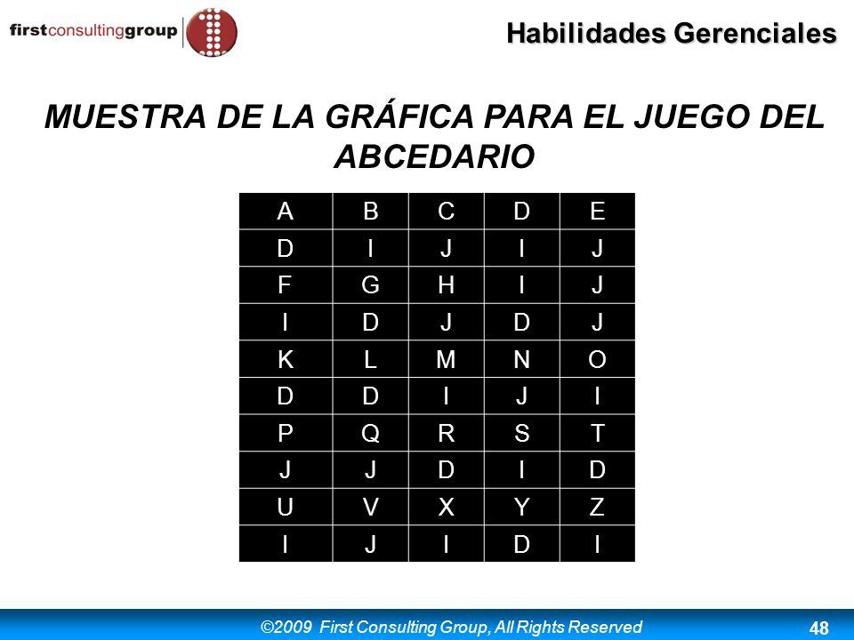 MUESTRA DE LA GRÁFICA PARA EL JUEGO DEL ABCEDARIO