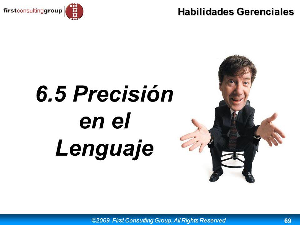 6.5 Precisión en el Lenguaje