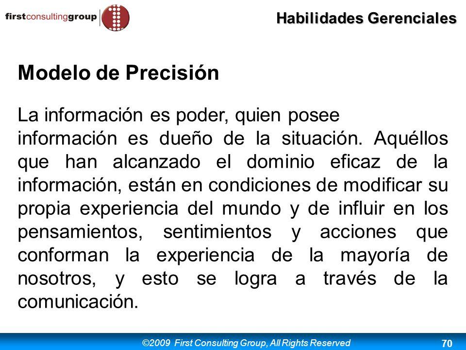Modelo de Precisión La información es poder, quien posee