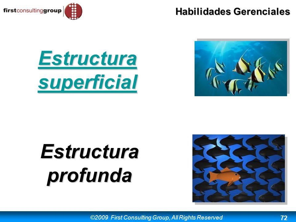 Estructura superficial Estructura profunda