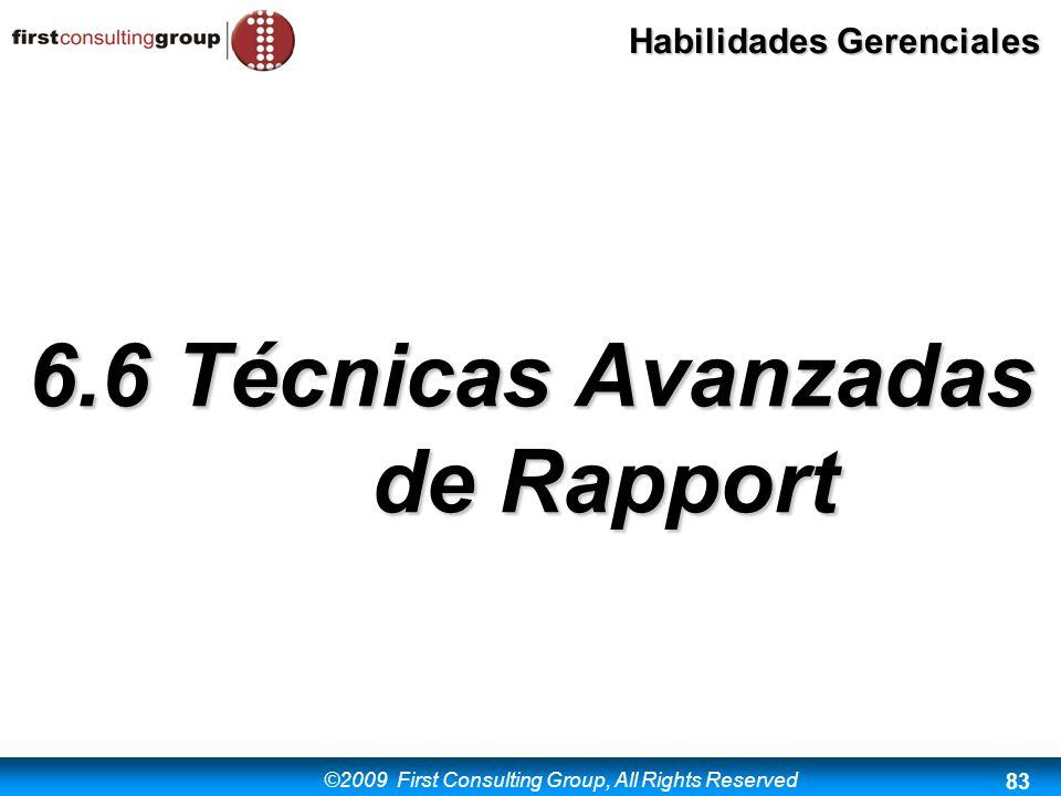 6.6 Técnicas Avanzadas de Rapport
