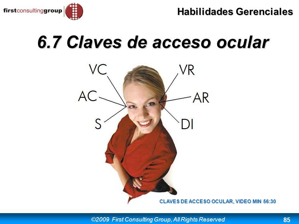 6.7 Claves de acceso ocular CLAVES DE ACCESO OCULAR, VIDEO MIN 56:30