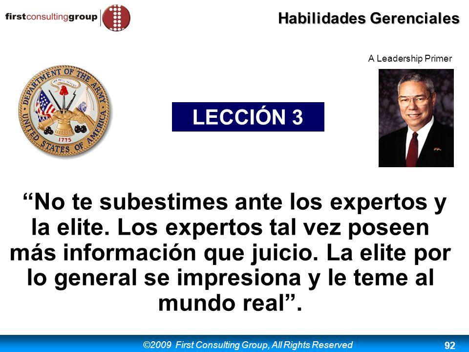 A Leadership Primer LECCIÓN 3.