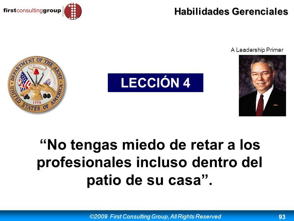 A Leadership Primer LECCIÓN 4.