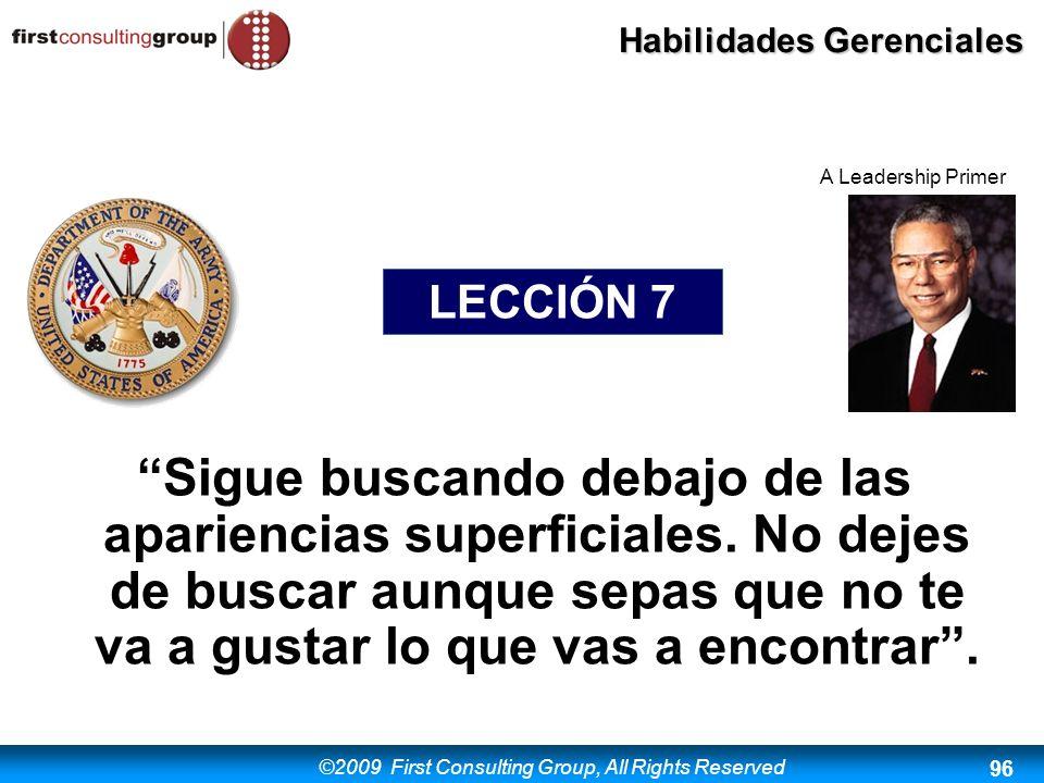 A Leadership Primer LECCIÓN 7.