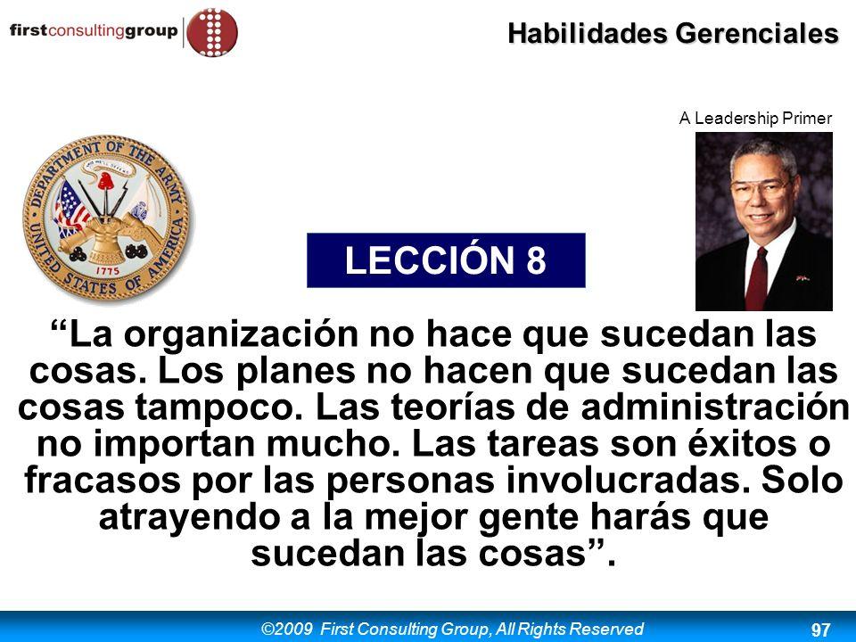 A Leadership Primer LECCIÓN 8.