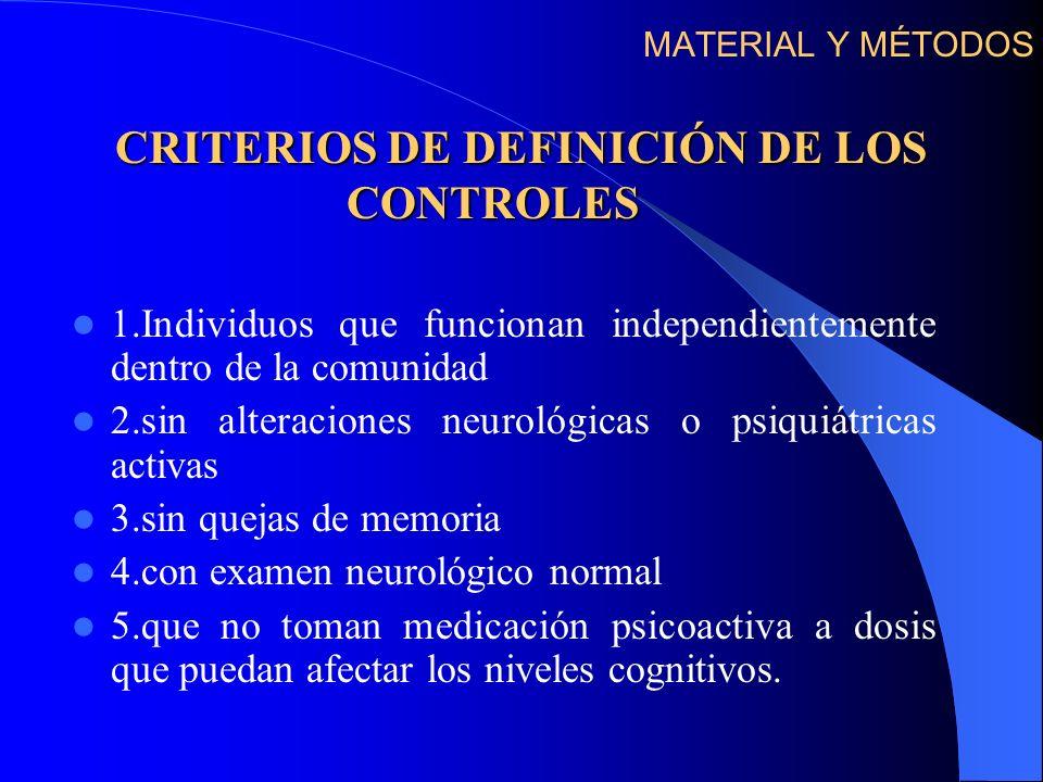CRITERIOS DE DEFINICIÓN DE LOS CONTROLES