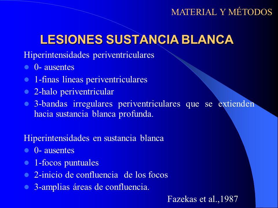 LESIONES SUSTANCIA BLANCA