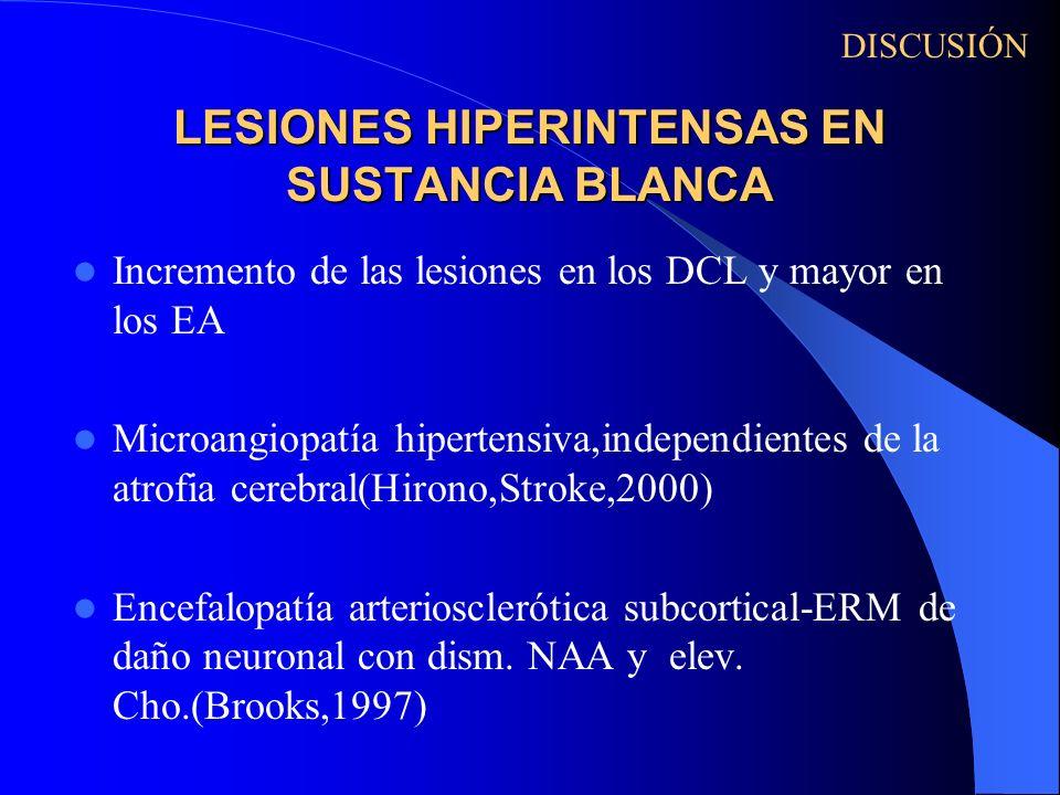 LESIONES HIPERINTENSAS EN SUSTANCIA BLANCA