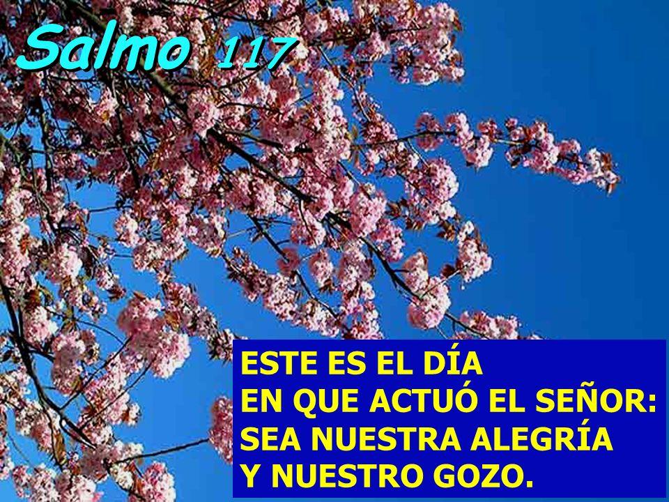 Salmo 117 ESTE ES EL DÍA EN QUE ACTUÓ EL SEÑOR: SEA NUESTRA ALEGRÍA