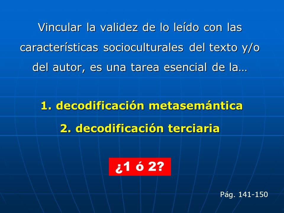 2. decodificación terciaria