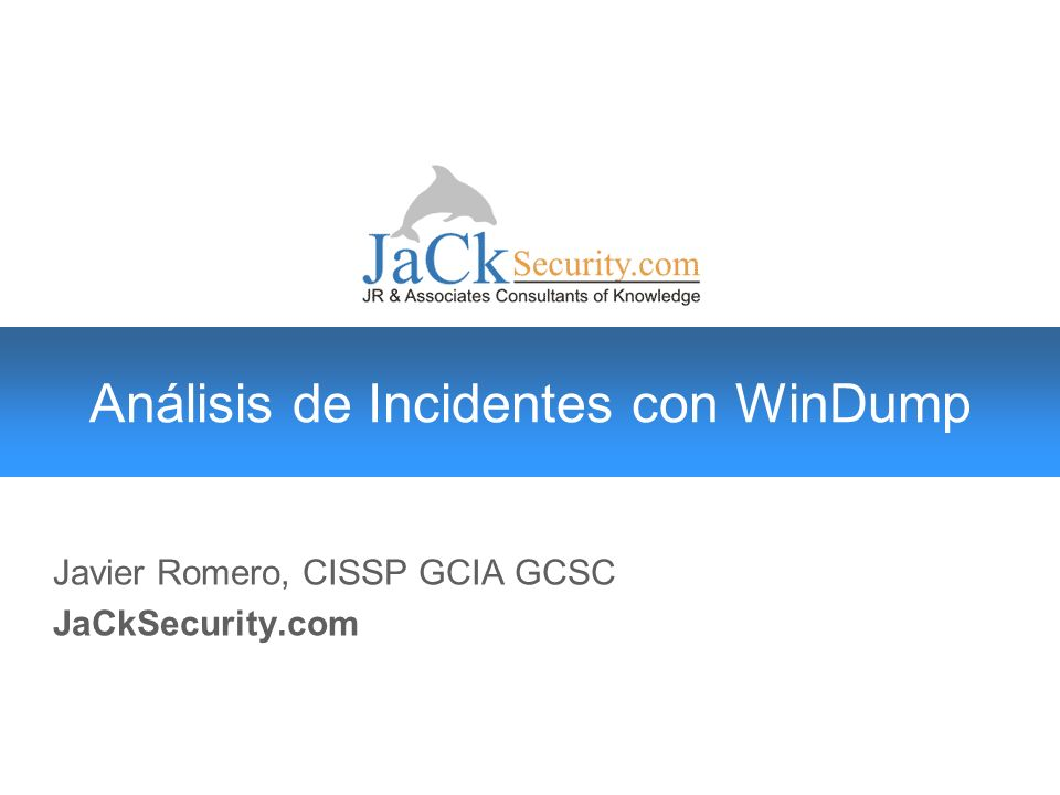 Análisis de Incidentes con WinDump