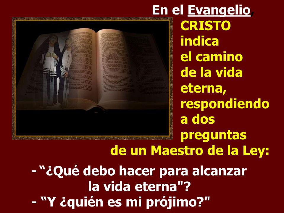 En el Evangelio,. CRISTO. indica. el camino. de la vida. eterna,