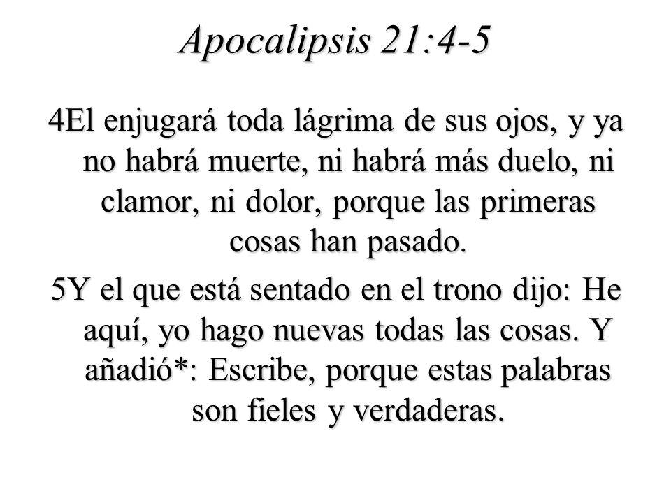 Apocalipsis 21:4-5