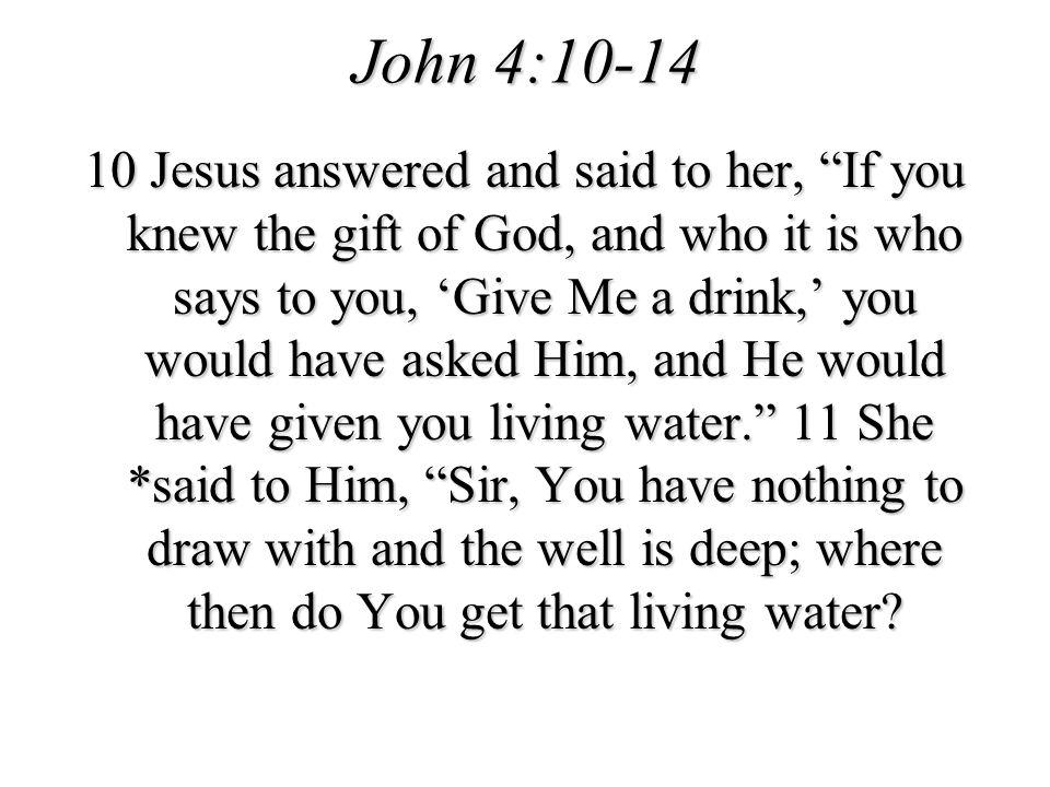 John 4:10-14