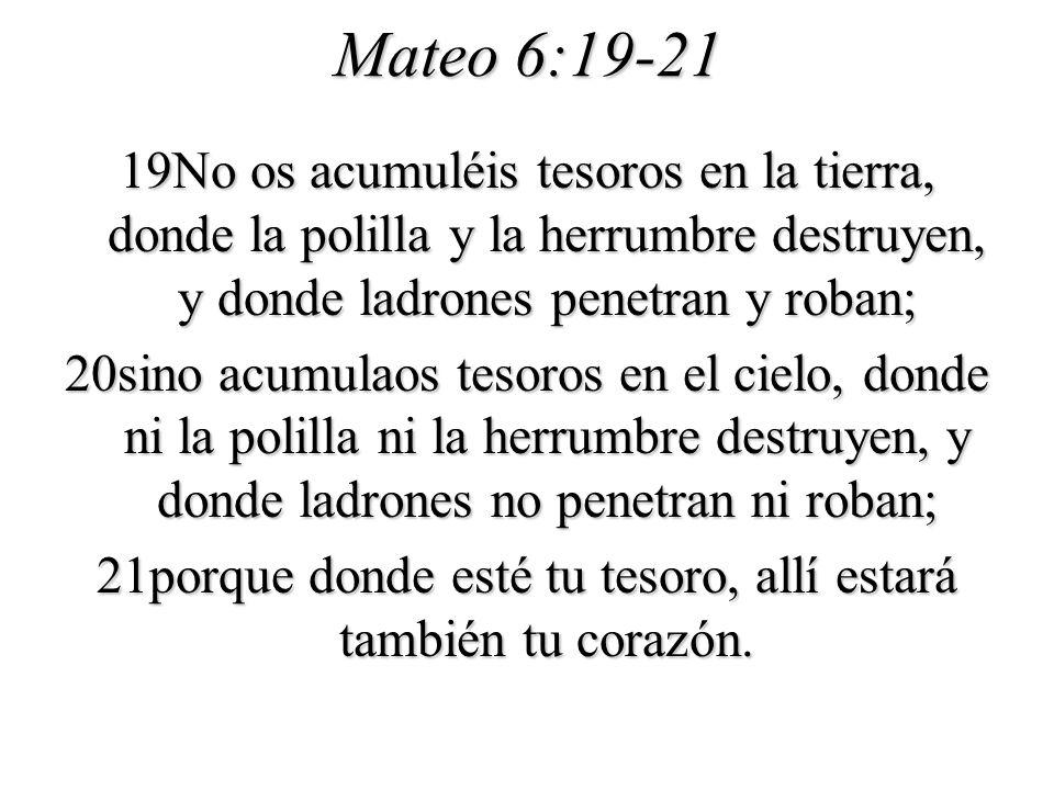 Mateo 6:19-21