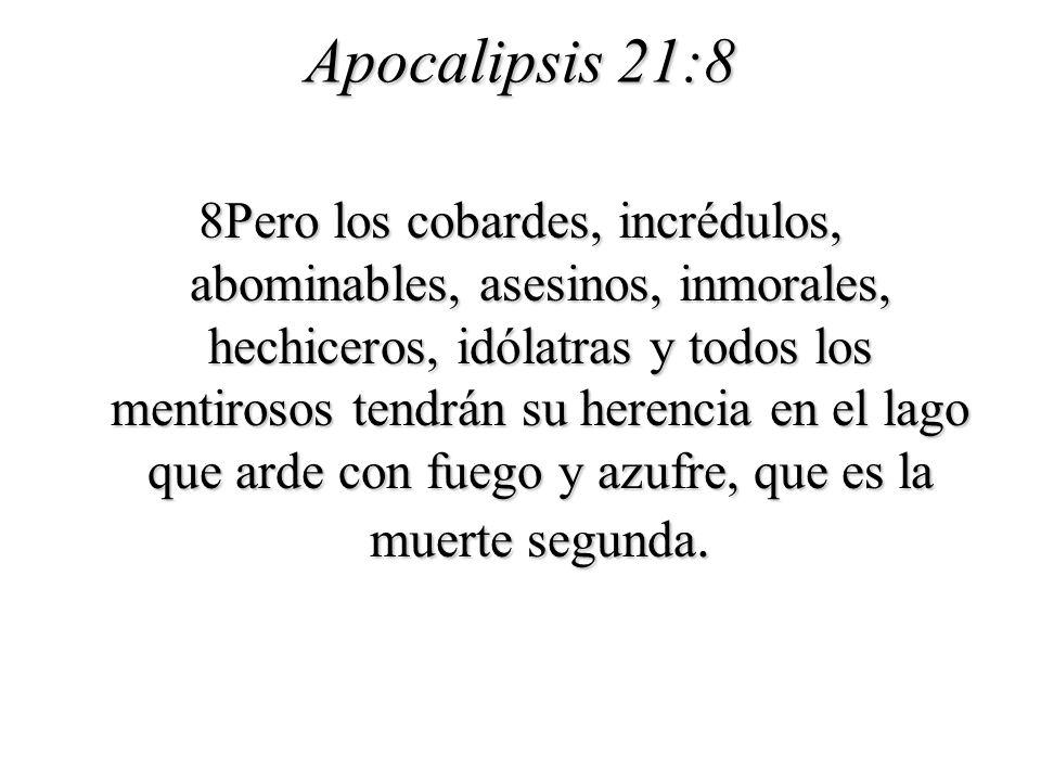 Apocalipsis 21:8