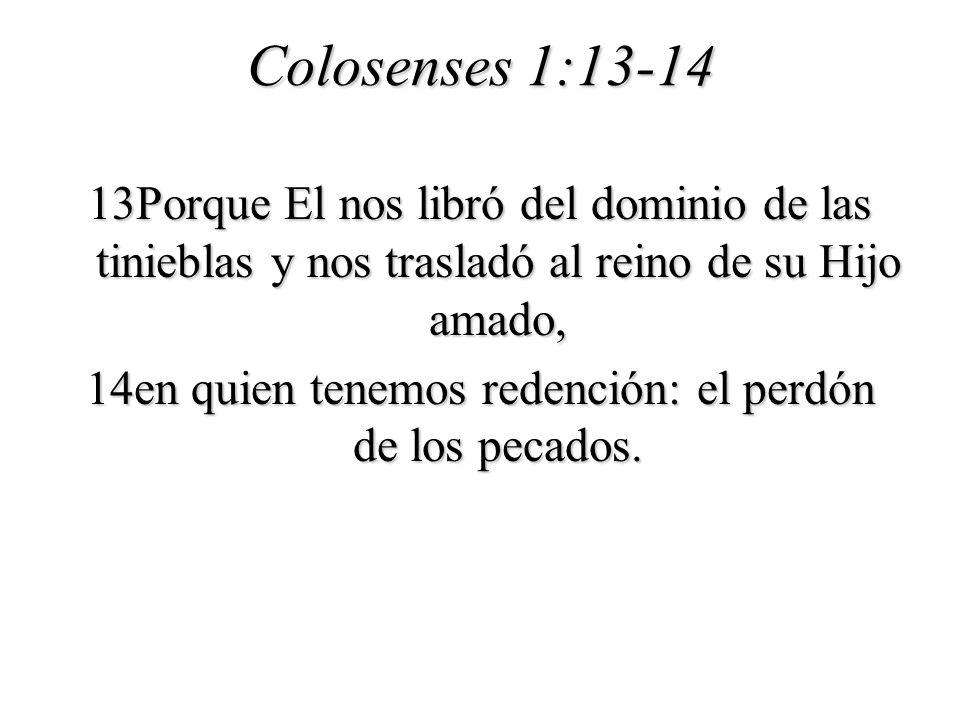 Colosenses 1:13-14