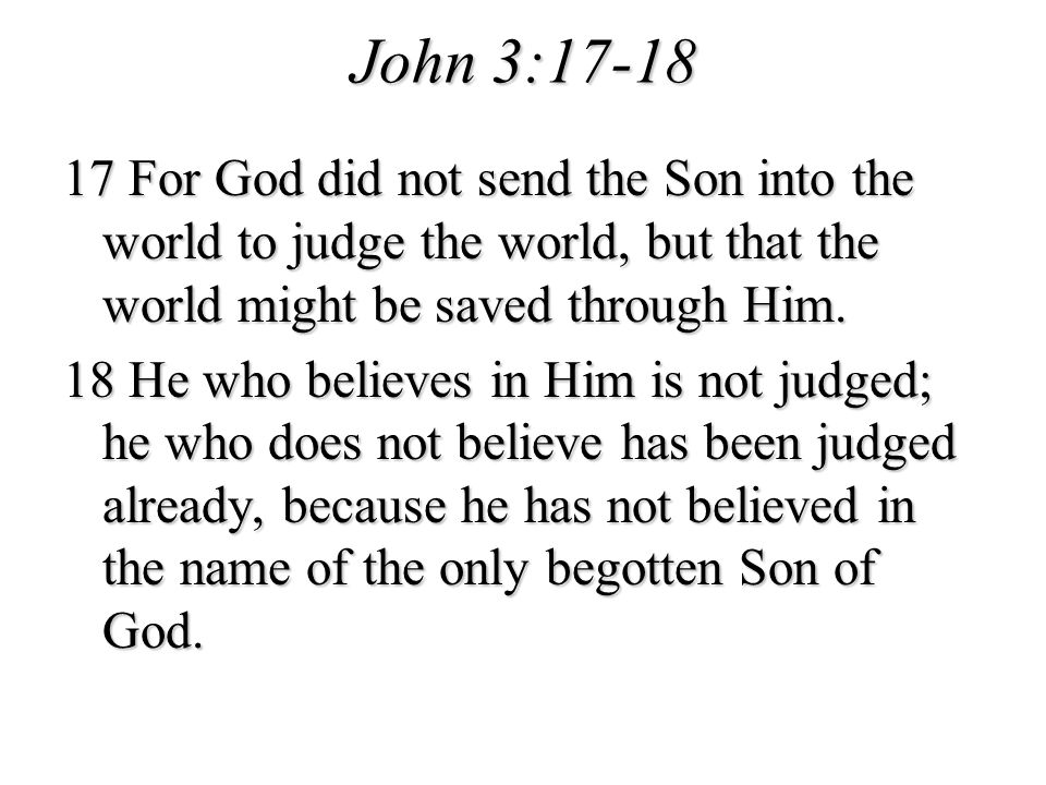 John 3:17-18