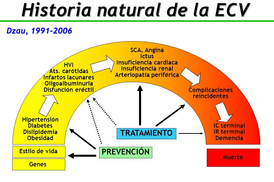 Historia natural de la ECV