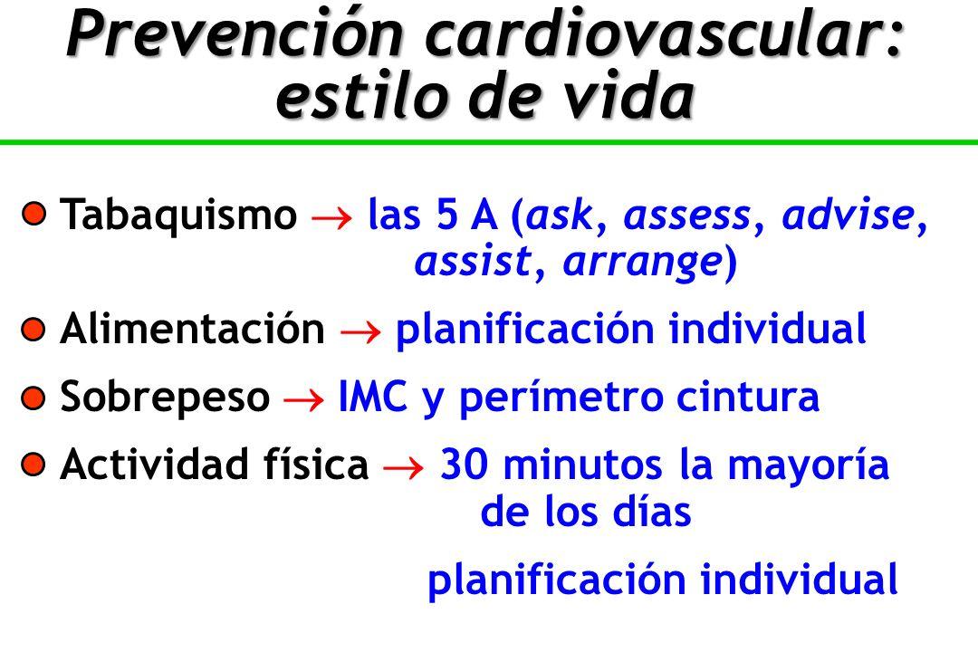 Prevención cardiovascular: estilo de vida