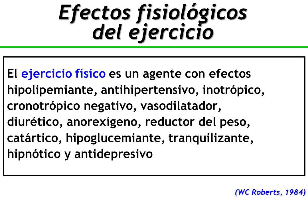 Efectos fisiológicos del ejercicio