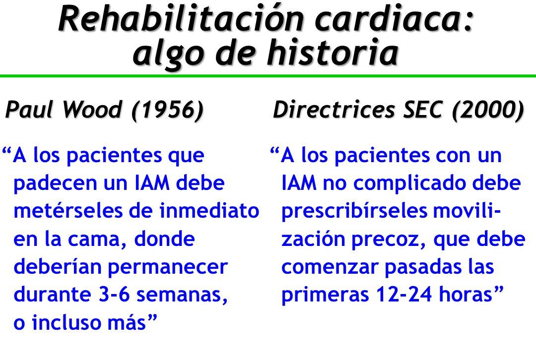 Rehabilitación cardiaca: algo de historia